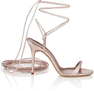 Manolo Blahnik Women's Prishipla Metallic Leather Sandals
