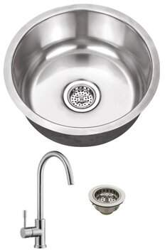 """Cahaba 17"""" L x 17"""" W Undermount Bar Sink with Faucet Cahaba"""
