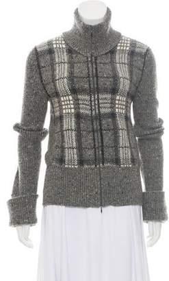 Valentino Wool Zip-Up Cardigan