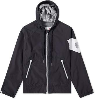 Moncler Gamme Bleu Seersucker Hooded Jacket