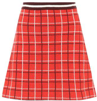 Miu Miu Knitted virgin wool skirt