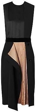 Burberry Women's Sleeveless Silk Double Skirt Sheath Dress