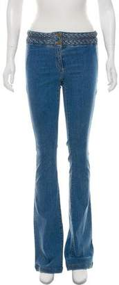 Veronica Beard Mid-Rise Braided Flare Jeans