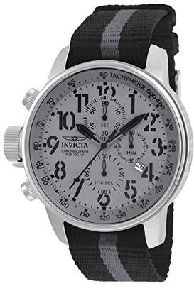 Invicta Men's 'I-Force' Quartz Stainless Steel and Nylon Casual Watch