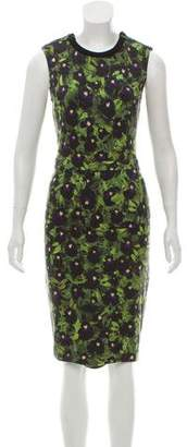 Givenchy Floral Print Sleeveless Dress