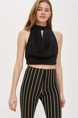 Love **Pleated Cowl Front Top