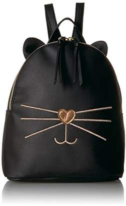 T-Shirt & Jeans Cat Back Pack with Metallic Face