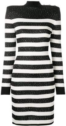 Balmain short striped dress