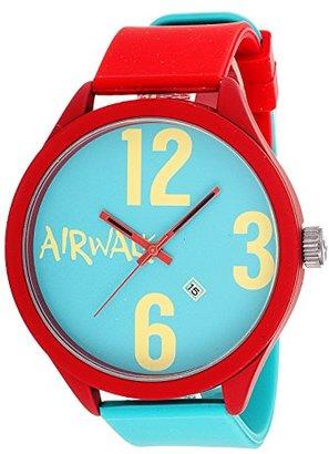 Airwalk アナログTurquoise Dial withレッドandターコイズストラップウォッチ