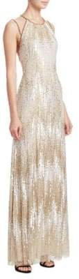 Jenny Packham Beaded Illusion Gown