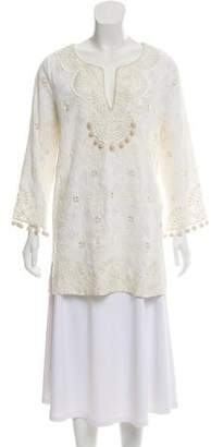 Calypso Embroidered Long Sleeve Tunic