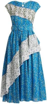 GÜL HÜRGEL Bead-embellished floral-print dress