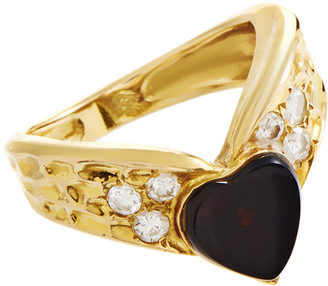 Van Cleef & Arpels Heritage  18K 0.20 Ct. Tw. Diamond & Onyx Ring