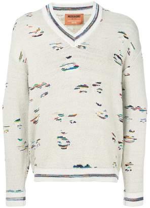 Missoni V-neck knit jumper