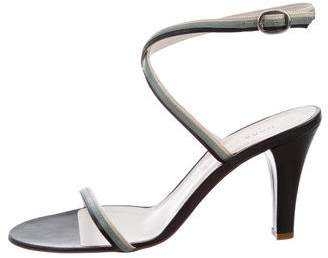 Marc by Marc Jacobs Leather Wrap-Around Sandals