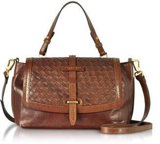 The Bridge Salinger Woven Leather Medium Satchel Bag