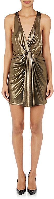 Saint LaurentSaint Laurent Women's Silk-Blend Lamé Minidress
