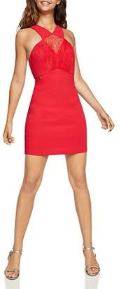BCBGeneration Lace-Inset Body-Con Dress