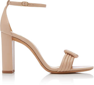 Alexandre Birman Vicky Knotted Leather Sandals