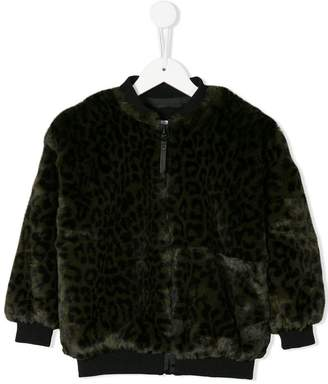 Molo leopard print faux fur bomber jacket