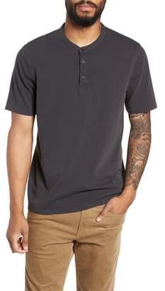 Vince Regular Fit Garment Dye Short Sleeve Henley