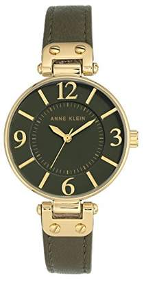 Anne Klein Womens Analogue Classic Quartz Watch with Leather Strap 10/N9168OLOL