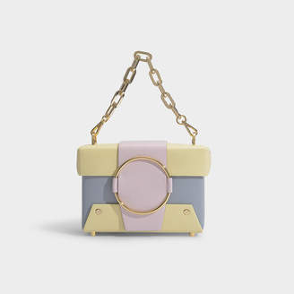 Yuzefi Asher Handbag In Yellow And Pink Calfskin