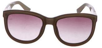 Linda Farrow The Row x Oversize Gradient Sunglasses