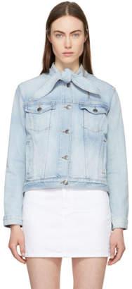 Frame Blue The Neck Denim Jacket