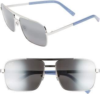 Maui Jim Compass 60mm Polarized Aviator Sunglasses