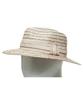The Two Mrs Grenvilles Paper Braid Cowboy Hat W Ribbon/Self Trim