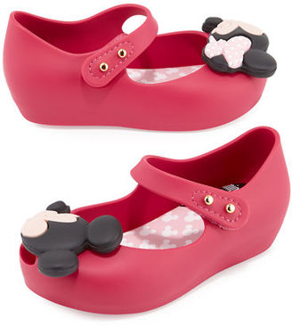 Mini Melissa Ultragirl + Disney® Twins Mary Jane Jelly Flat, Toddler $65 thestylecure.com