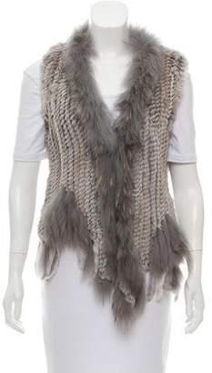 Shawl Collar Fur Vest