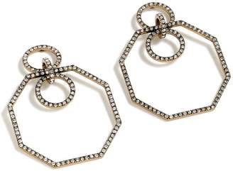 J.Crew Pave Octagon Earrings