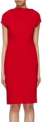Theory Long sleeve crepe shift dress