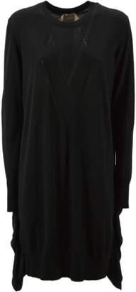 N°21 N.21 Long Dress In Black Virgin Wool.