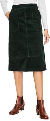 Boden Patch Pocket Corduroy Midi Skirt