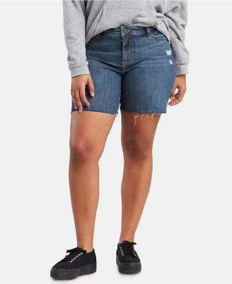 Levi's Trendy Plus Size Raw-Hem Denim Shorts