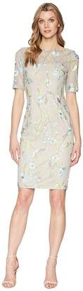 Adrianna Papell Vine Embroidery Sheath Dress Women's Dress