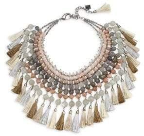 Rosantica Geranio Quartz& Sun Stone Collar Necklace