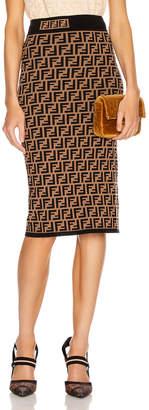 Fendi FF Midi Skirt in Tobacco | FWRD