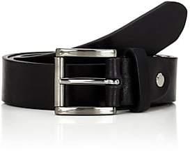 Barneys New York Men's Textured Leather Belt - Black