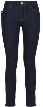 Versace Embellished Mid-Rise Skinny Jeans