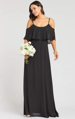 Show Me Your Mumu Caitlin Ruffle Maxi Dress ~ Black Chiffon