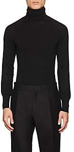 Martin Grant Men's Merino Wool Turtleneck Sweater-Black