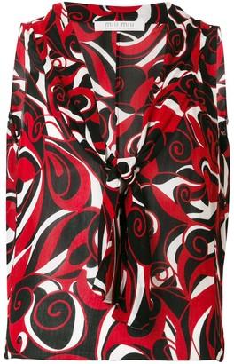 Miu Miu Pre-Owned abstract print sleeveless blouse