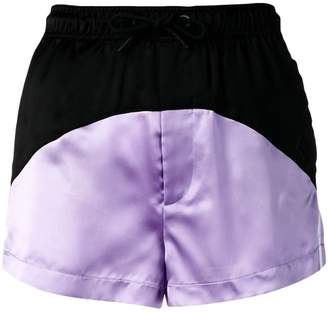 Marcelo Burlon County of Milan two-tone track shorts