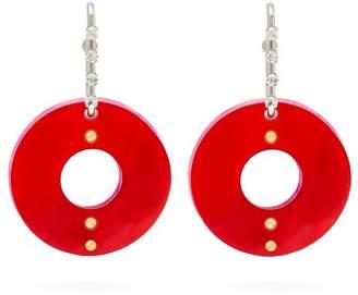 Marni Crystal And Hoop Earrings - Womens - Red