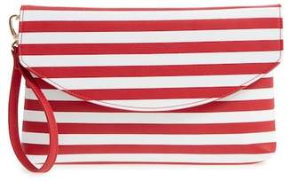 Sole Society Faux Leather Wristlet Clutch