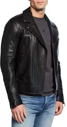 Belstaff Men's Fenway Leather Zip-Front Moto Jacket